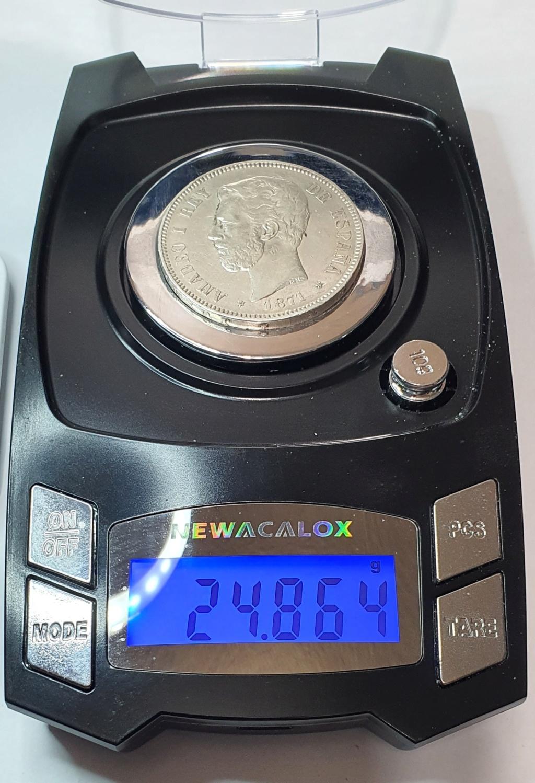 DUDA 5 pesetas Amadeo I 1871*18-73 20200610