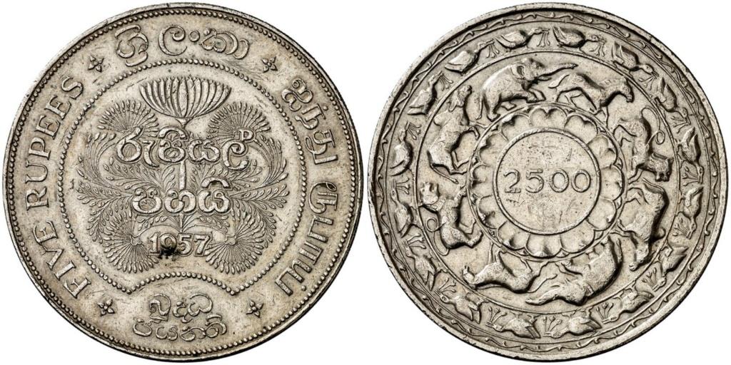 5 Rupias. Isabel II. Ceilán. 1957 (Con sorpresa) 5_rupi10
