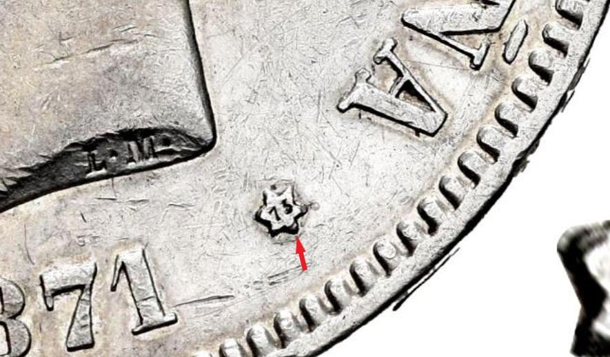 DUDA 5 pesetas Amadeo I 1871*18-73 Amadeo11