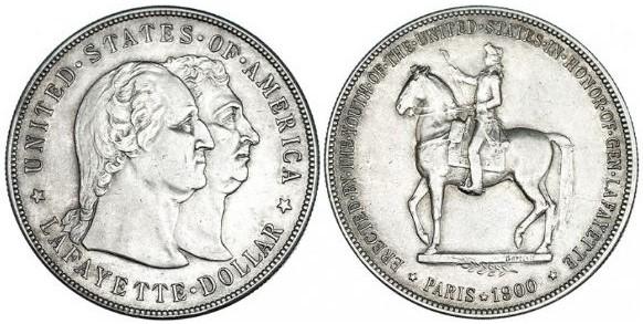 1 Dólar Lafayette USA 1900 Dolar_10