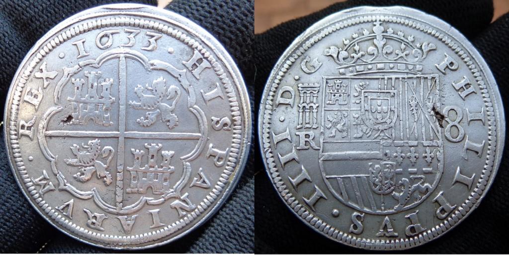 8 reales, Felipe IV real Ingenio de Segovia 1633 Felipe10