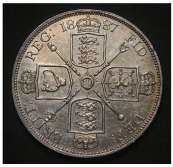 1887 (otra vez)- 2 FLORINS-Victoria  I88710
