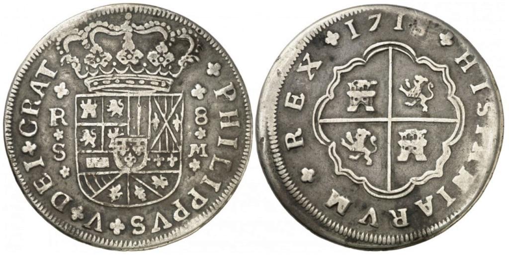 8 reales de Felipe V 1718, Sevilla Sin_8_11