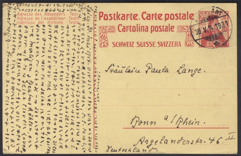Geheimsprache auf Postkarte 217_112