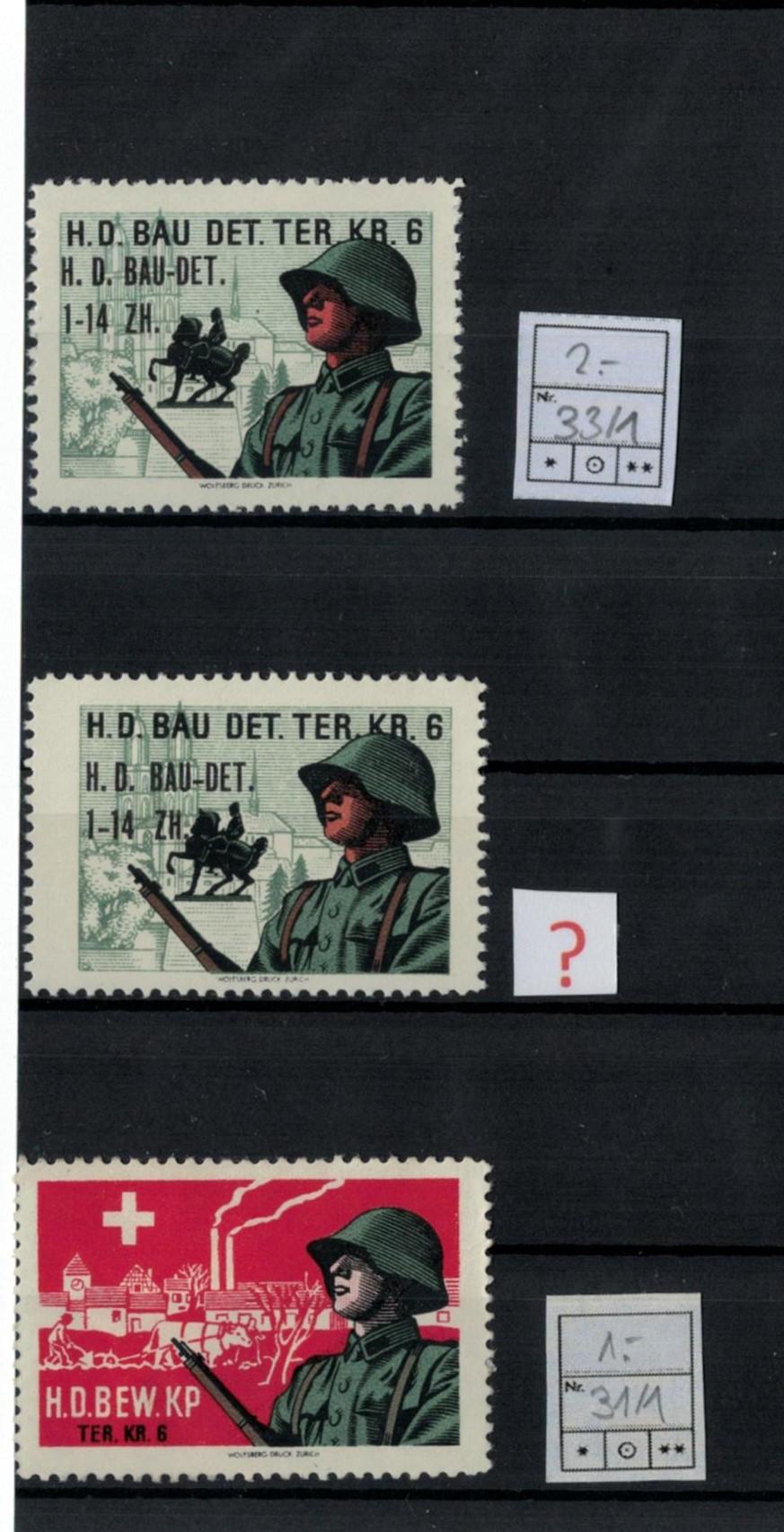 H.D. Bau-Det. 1-14 ZH. Ter. Kr.6 Hdba3310