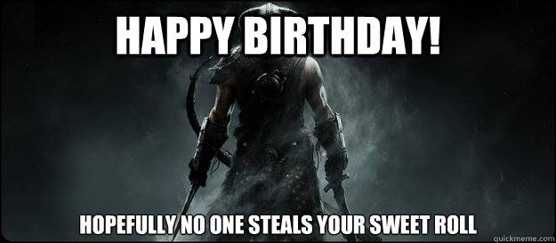 Happy Birthday RottenDub! Skyrim10