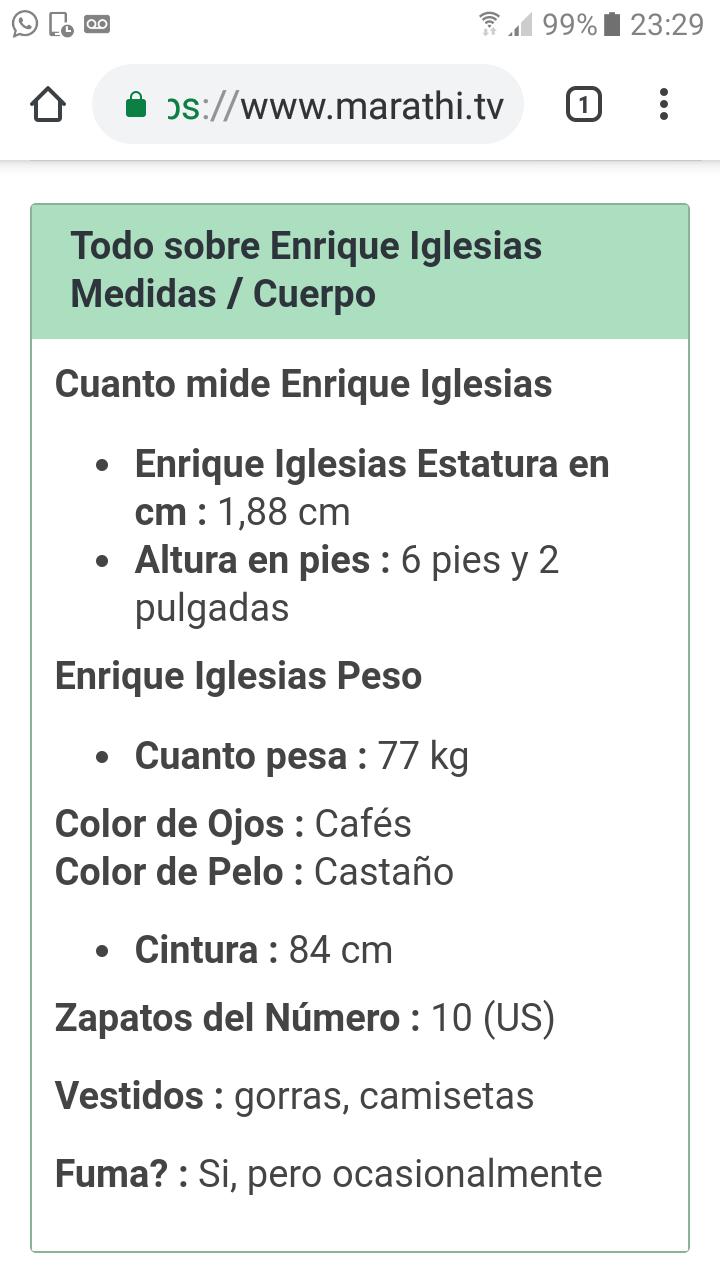 ¿Cuánto mide Enrique Iglesias? - Altura - Real height - Página 2 Screen26
