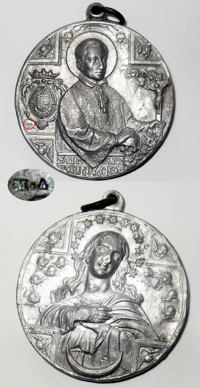 Medalla San Luis Gonzaga / Inmaculada Concepción S. XX 110