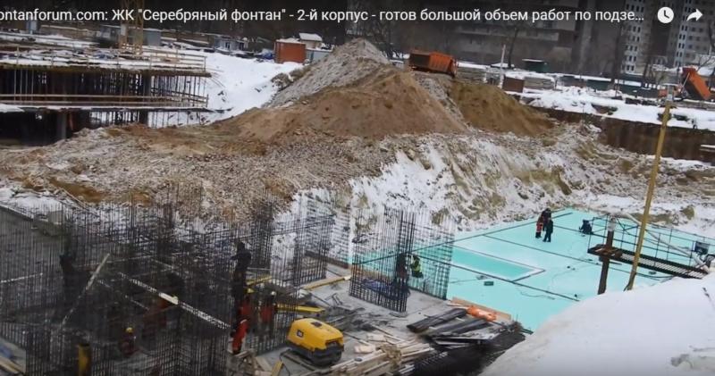"""Ход строительства 2 корпуса ЖК """"Серебряный фонтан"""" 99999910"""