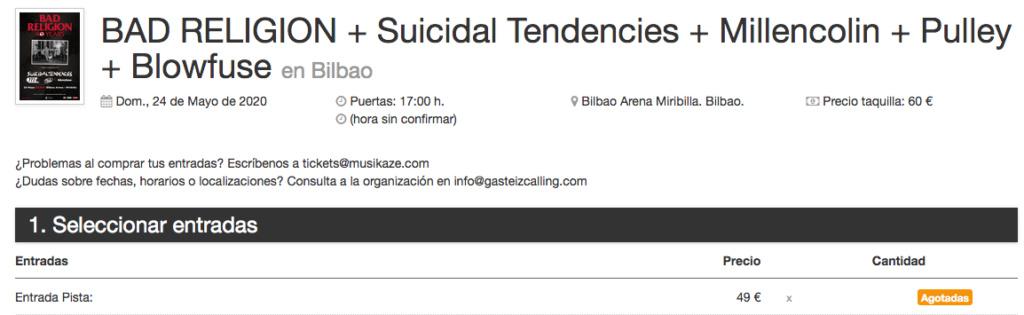 BAD RELIGION + Suicidal Tendencies + Millencolin (de gira en 2022 por la península) - Página 14 Captu139