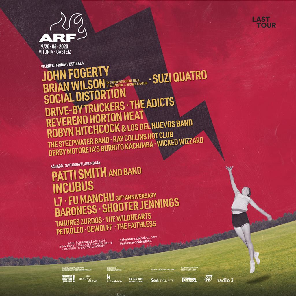 Azkena Rock Festival 2021. 17-18-19-Junio!!! 3 días. Iggy Pop!!!!. Black Mountain, Brian Wilson, Fu Manchu, L7, Patti Smith, Social Distortion.... - Página 5 Eoou4p10