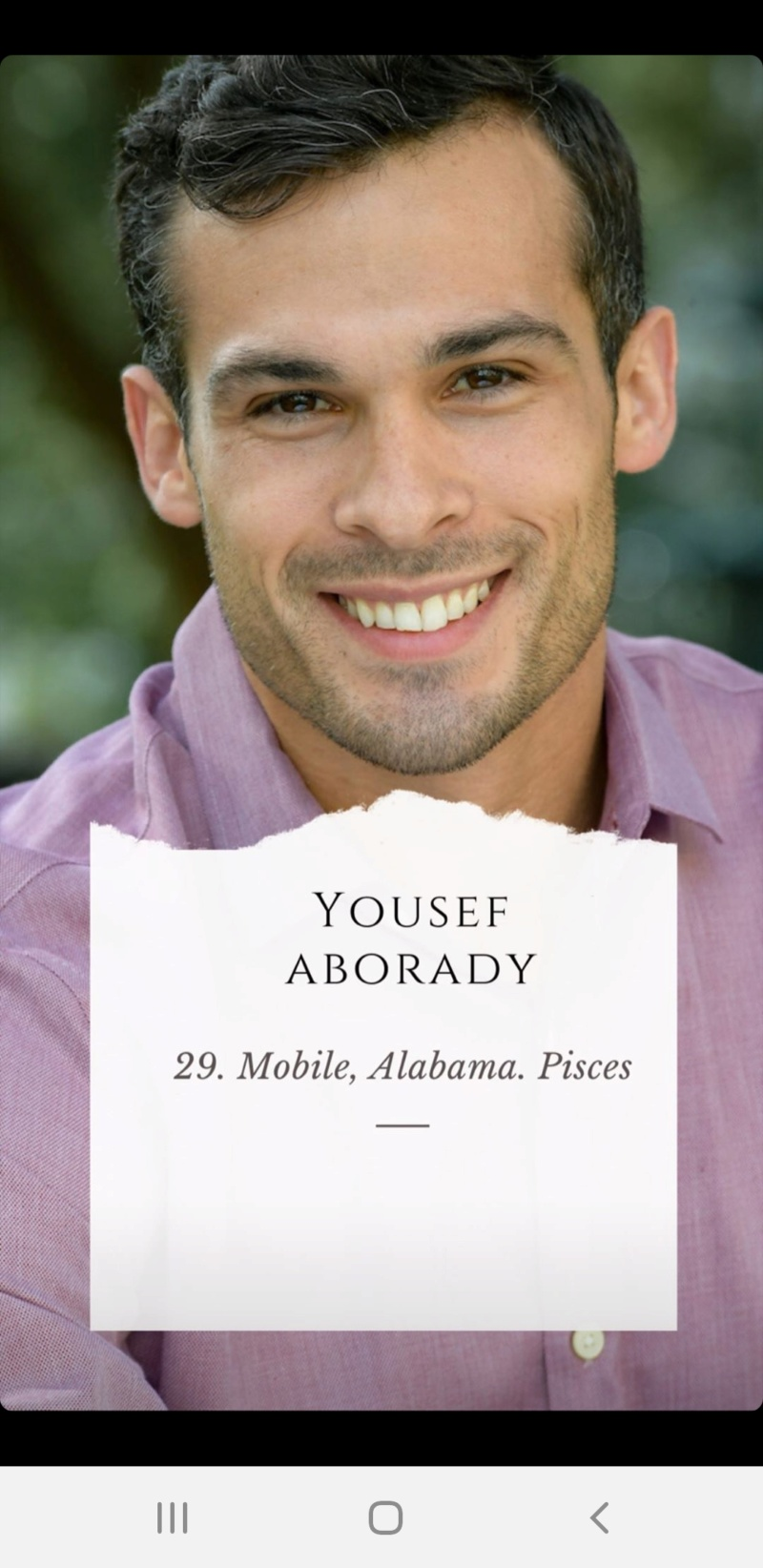 Yosef Aborady - Bachelorette 16 - *Sleuthing Spoilers* Scree501