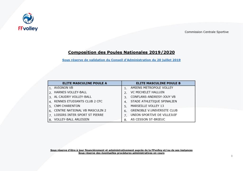 [Saison 2019-2020] Calendrier et composition des poules - Page 2 Poules12