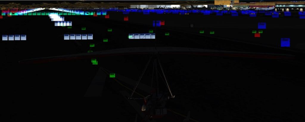 Luzes da pista e taxiways bugadas. Luzesx11