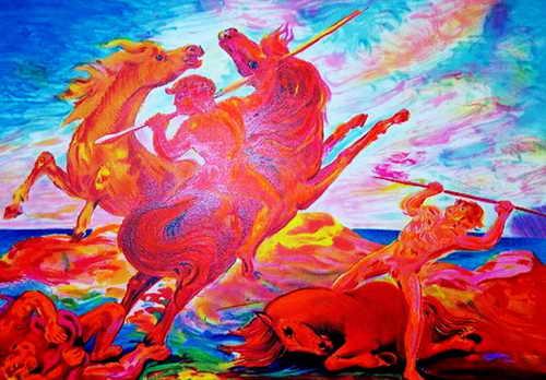 I cavalli di Aligi Sassu I-cava10