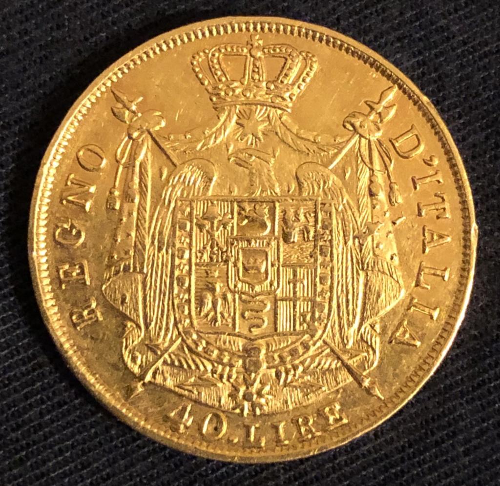 40 Lire de Napoleón, 1812. Oro. Tasación. 0e714c10