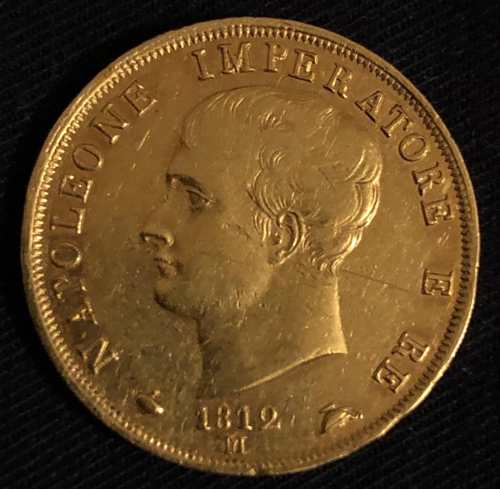 40 Lire de Napoleón, 1812. Oro. Tasación. 697bb310