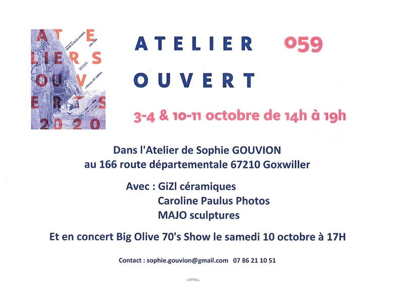 """Goxwiller (67), les 3-4 & 10-11 octobre 2020, """" Les Ateliers Ouverts """" Atelie10"""