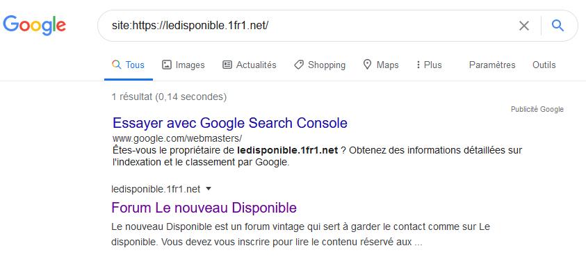Mon forum pas sur Google Captur10