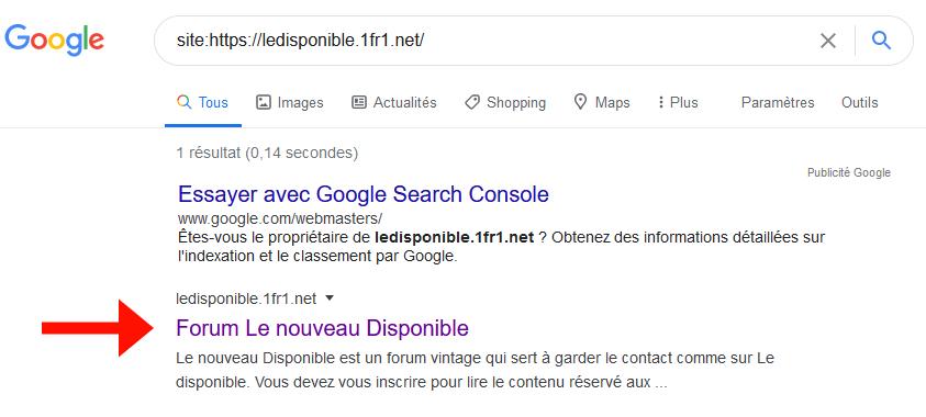 Mon forum pas sur Google Captur11