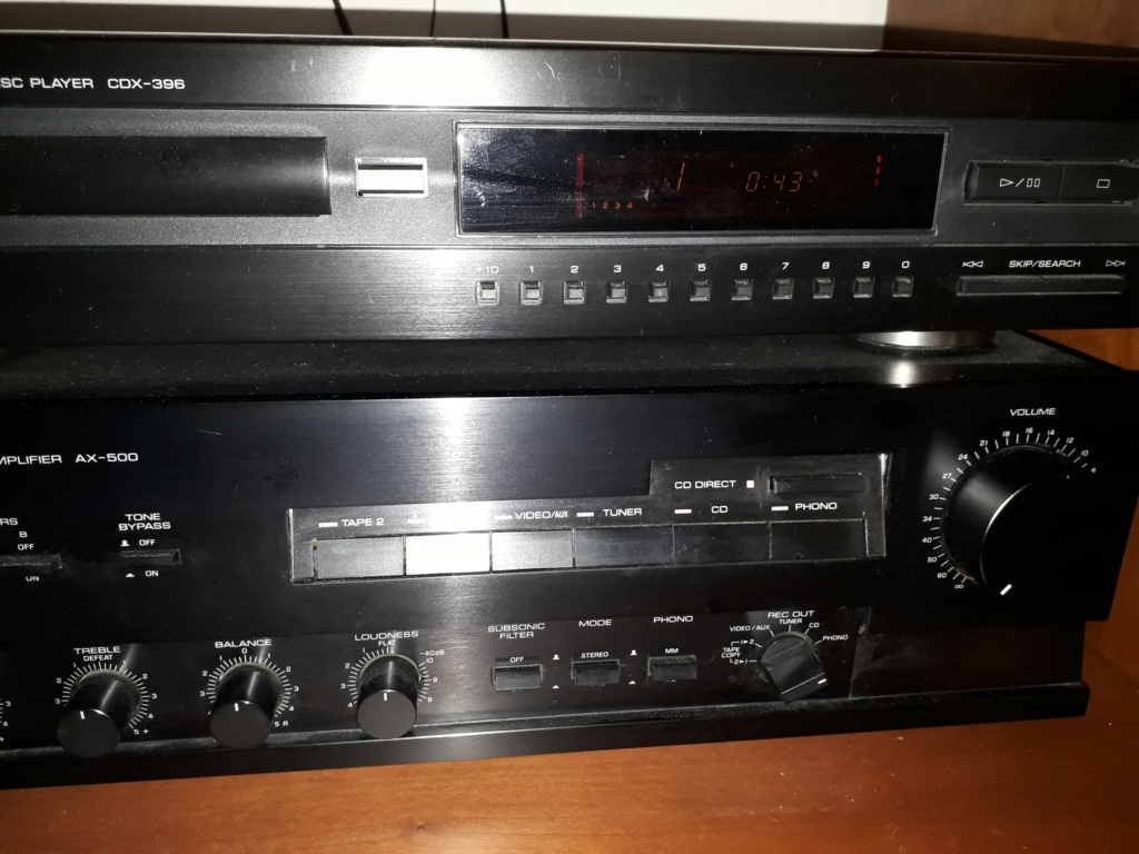 Nessun suono dall'amplificatore se utilizzo giradischi . CD funziona ma solo co CD Direct  Yamaha10
