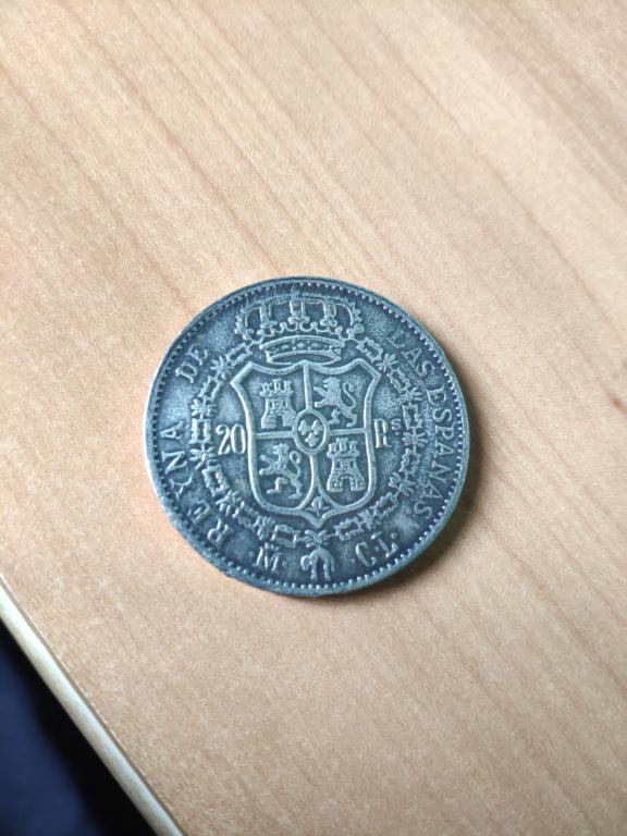 20 Reales de Isabel II de 1837. Reproducción. 15967011