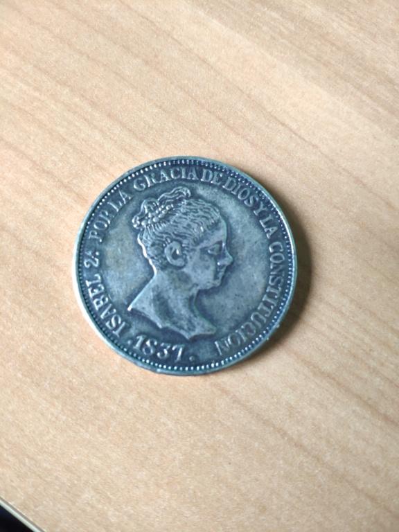20 Reales de Isabel II de 1837. Reproducción. 15967012