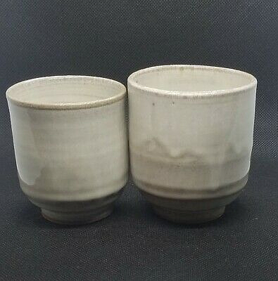 Another maybe not Japanese meoto yunomi set, signed in Klingon? White_13