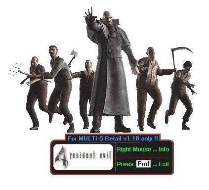 El trainer para la Resident Evil 4 P1.10 no funciona en Windows 10 Re4_tr11