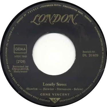 Lonely Street rarest  German Gene  Record Lonely10