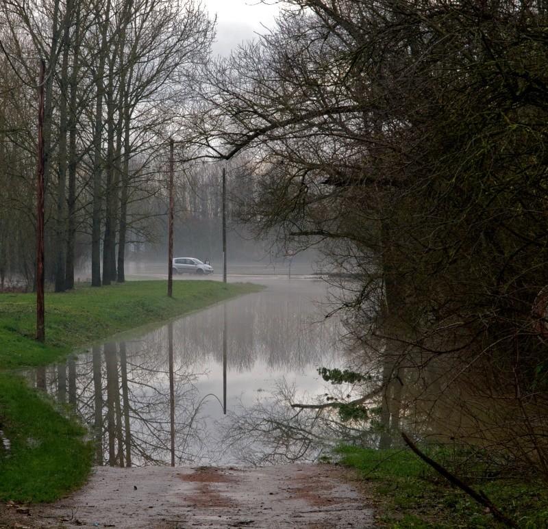 Route inondée Route10