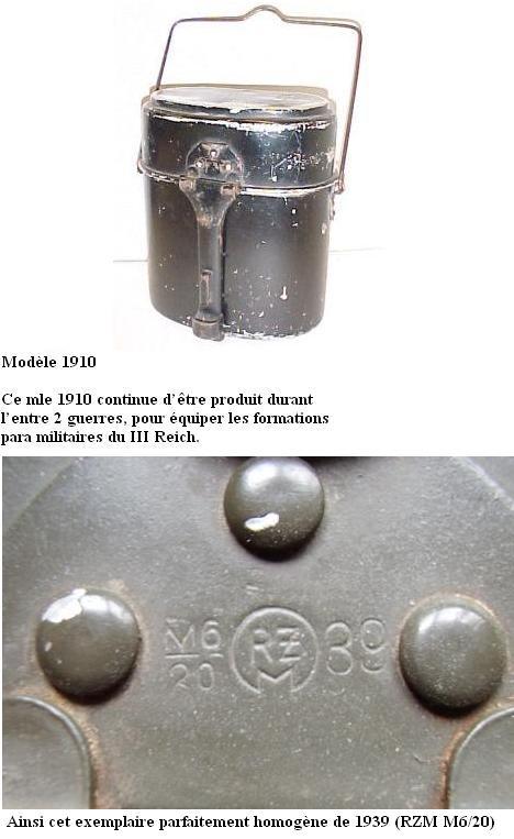 HEER et Waffen - les Gamelles M1910 et M1931 0110