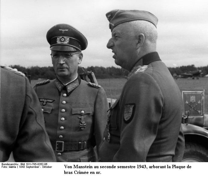 Erich Von MANSTEIN Bunde168