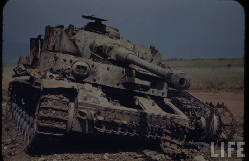 Panzer Wreck in Color !!! C1-110