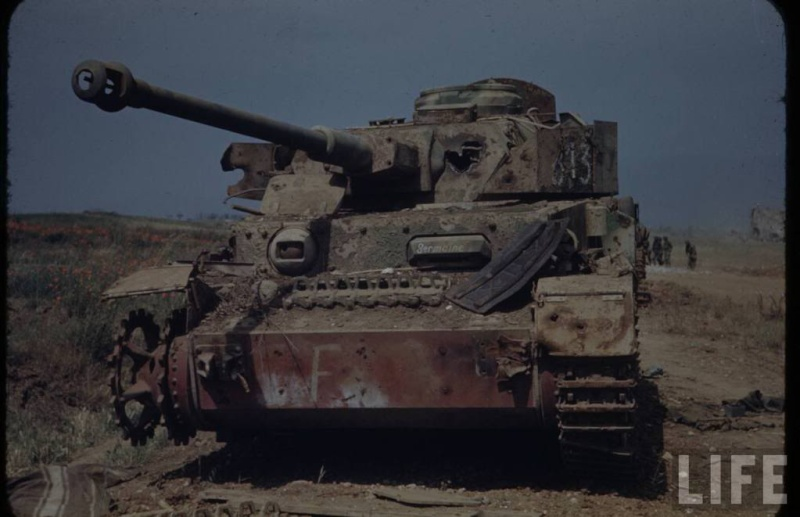 Panzer Wreck in Color !!! C3-110