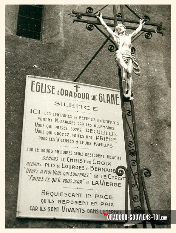 Massacre d'Oradour-sur-Glane Christ10