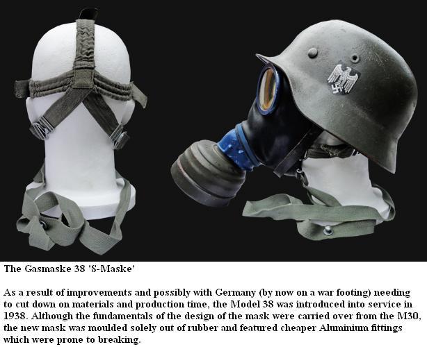 Les Masques a Gaz et leurs étuis German18