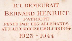 Le massacre de Tulle – 9 juin 1944 Henrie10