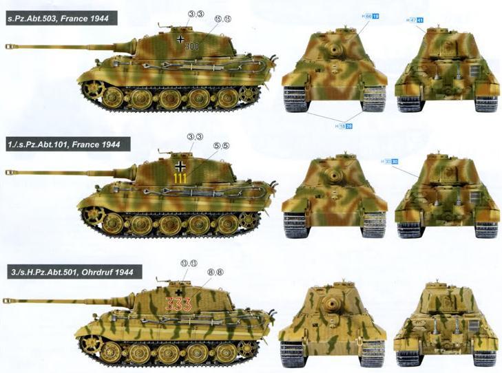 Camouflages, numerotation et marquages des Panzer King_t10