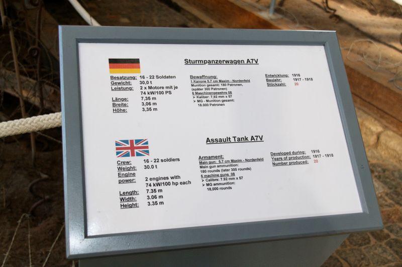 WW1 - A7V  - Munster - Panzer Museum Normal12