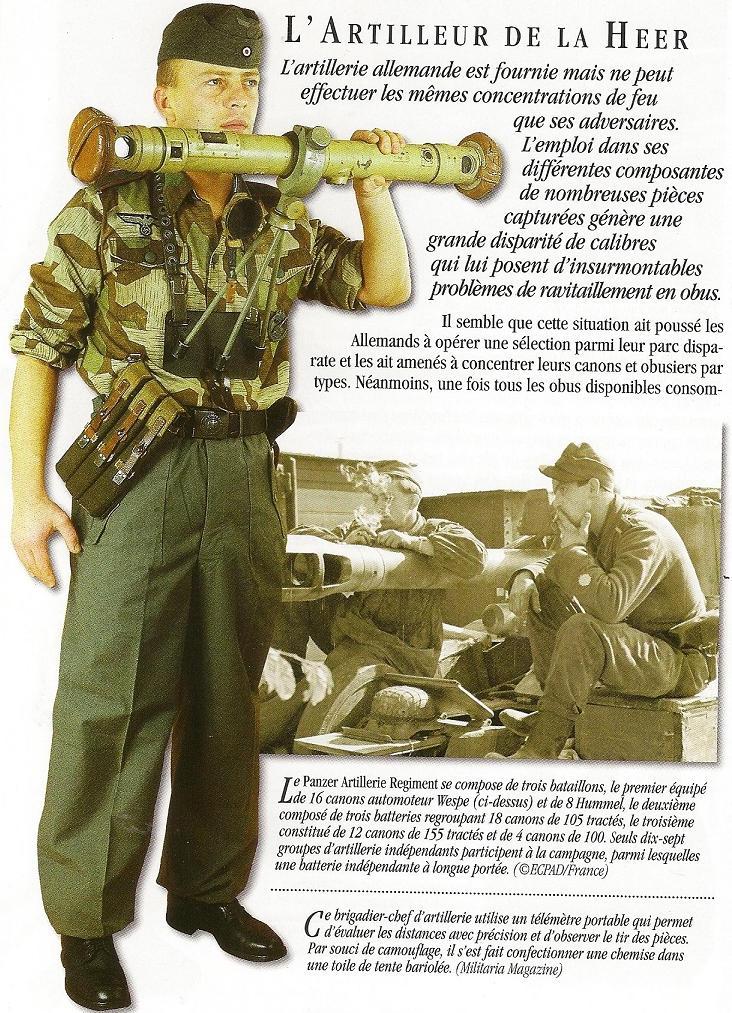 uniforme - Artilleur - Heer - France 44 Numari21