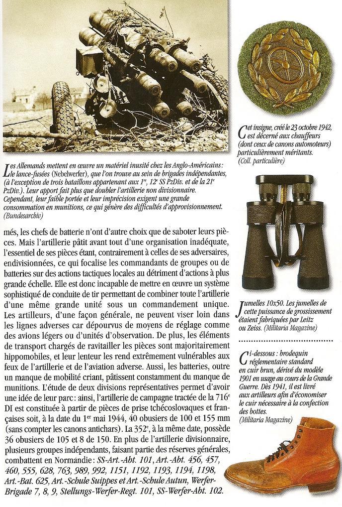 uniforme - Artilleur - Heer - France 44 Numari22