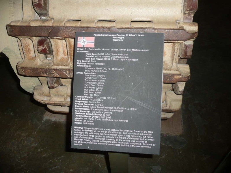 PzKpfw V Panther II - Patton Museum - USA P1130012