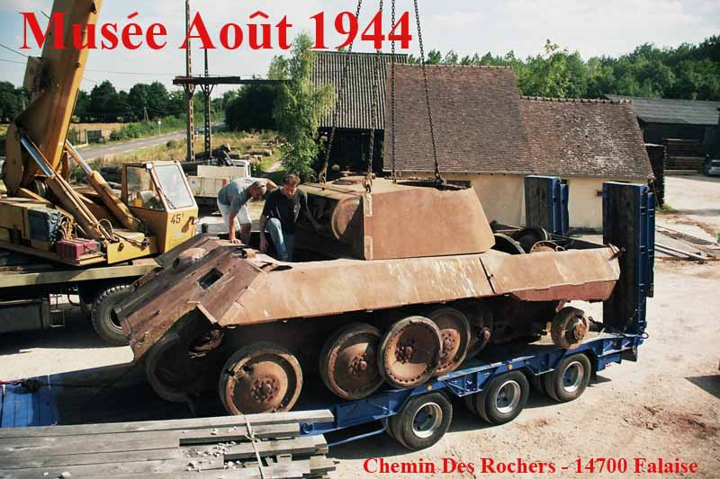 Panzer Wreck in Color !!! Panthe77