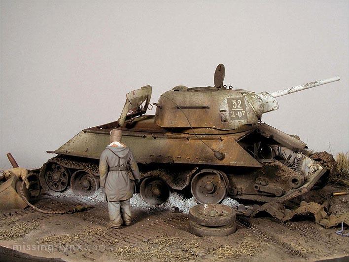 Destroyed T-34/76 mod.1943 - Kharkov, February 1943 T3476_15