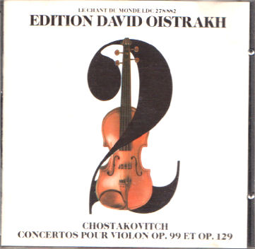 Chostakovitch : les 2 concertos pour violon Chosta10