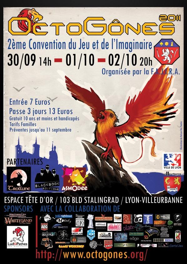 Convention ludique et imaginaire Octogones, à Villeurbanne (69) Affich10