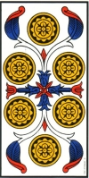 6 Deniers du Tarot de Marseille - lames mineures 6-deni10