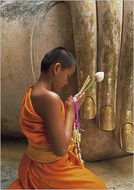 Pourquoi les religieux bouddhistes gardent-ils le bras droit découvert ? Jeune-10