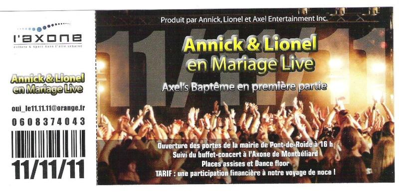 Notre mariage Ticket10
